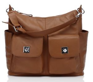 New Brown Pebbled Italian Leather Nappy Baby Mommy Diaper Bag Shoulder Bag