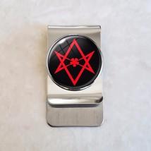 Crowley Thelema Unicursal Hexagram Satanism Stainless Steel Money Clip - $20.00