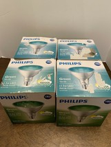Philips Green Flood LED Bulb 13.5W Par38 Indoor Outdoor Lot Of 4 - $25.00