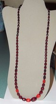 """Faceted Cherry Amber Bakelite Bead Necklace 32.5"""" Long 39 Grams for Rest... - $99.99"""