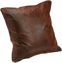 Croscill Plateau Euro European Pillow Sham Faux Leather Cabin Lodge Rust... - $59.28