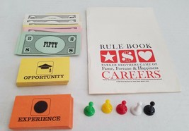 1965 Careers Board Game Parts Tokens Instructions Cards Money Parker Bro... - $9.70