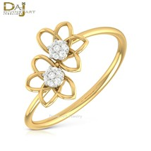 Diamonds Floral Design Engagement Ring Women's Jewelry Solid 925 Sterlin... - £50.24 GBP