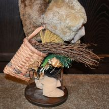 """Handcrafted Woodland Eskimo Santa Claus Father Christmas Signed 28"""" Cloth Doll image 8"""
