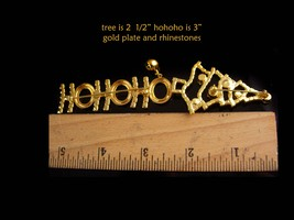 Vintage Christmas Tree brooch / ho ho ho bell brooch / Christmas gift for her /  image 5