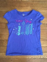 ! childrens place blue sequin  New York City graphic tee shirt medium 7 - 8 - $4.46