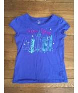 ! childrens place blue sequin  New York City graphic tee shirt medium 7 - 8 - $4.46