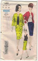 Vogue 5869 Collarless Cardigan Suit Pattern 1960s Size 14 Bust 34 Uncut ... - $17.63