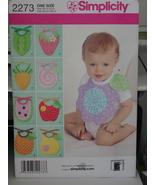 Sewing Pattern 2273 Baby Infant Novelty Bibs UNCUT - $6.99
