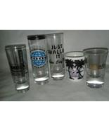"Bunch 5 Variety Tall Shot Glass 4"" Tall 2 Oz Vintage Bahamas Ocean City ... - $14.99"