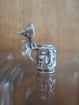 Sterling Silver Bracelet Charm  GERMAN STEIN Repousse Dancers   1960s So... - $54.45