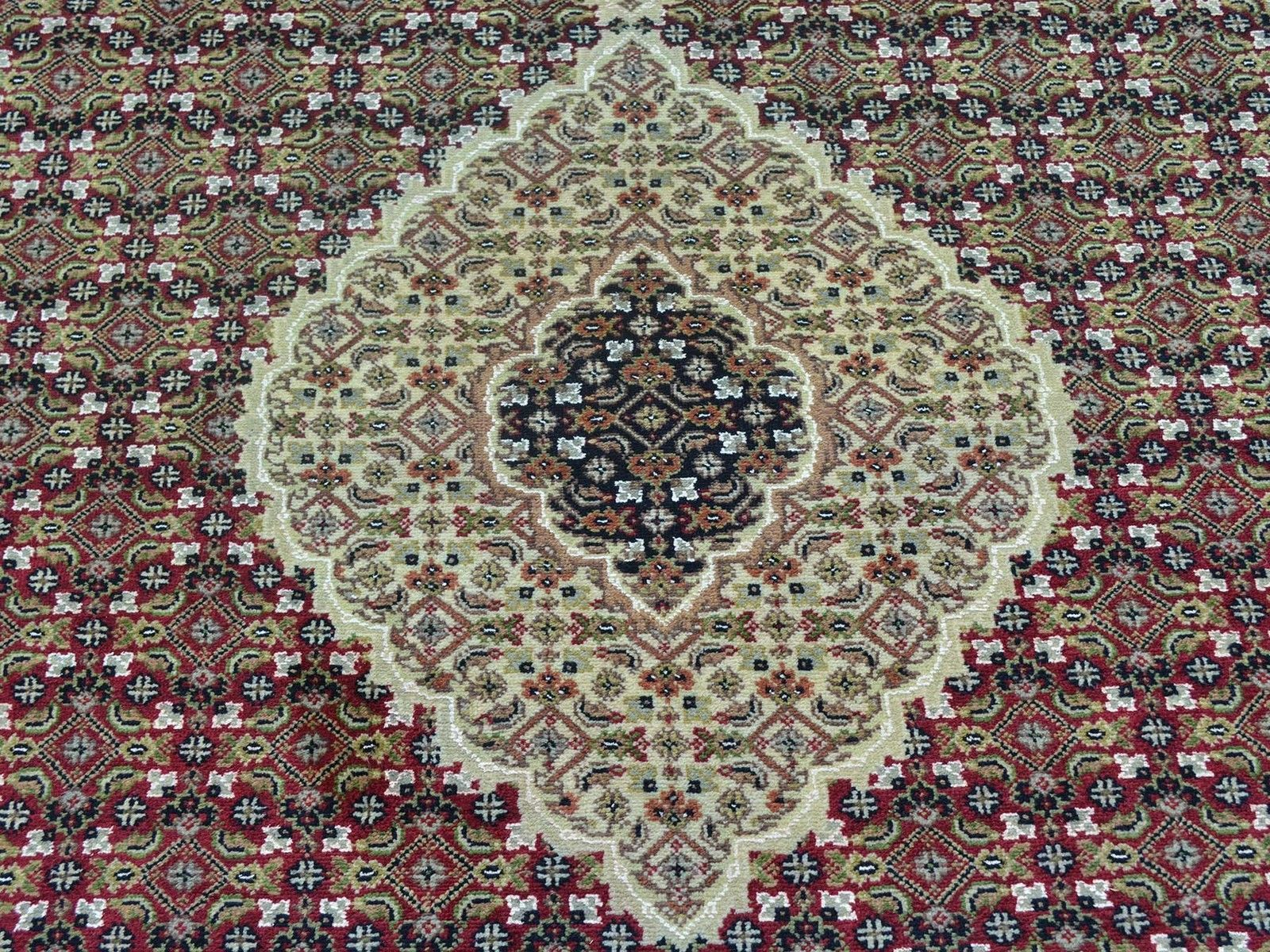 """5'x12'9"""" Tabriz Mahi Gallery Size Wool And Silk Hand Knotted Rug G26655"""