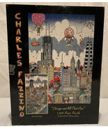 "Charles Fazzino ""Chicago and All That Jazz"" 1,000 Piece Glitter Jigsaw P... - $29.69"
