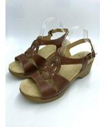 Dansko 42 11 12 Sigrid Brown Leather Slingback Heels Sandals Shoes - $29.99