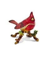 Bejeweled Cardinal Charlie Trinket Box - $71.99