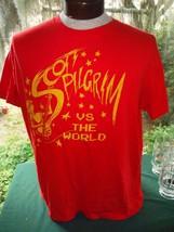 scott pilgrim vs the world MF Presents movie t-shirt RED w/ yellow print... - $27.69