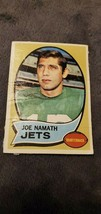 1970 TOPPS JOE NAMATH FOOTBALL CARD - VINTAGE - $4.99