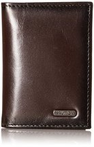 Nautica Men's Crunch Trifold Wallet,Brown,One Size