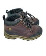Timberland Pawtuckaway Boy's Brown Leather Waterproof Hiking Boots Size ... - $23.05