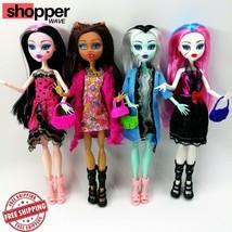 Monster High Draculaura Doll 4Pcs Lot Dolls Frankie Mattel New Lagoona G... - $26.23