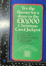 OVERSIZE BEER MAT COASTER - TWO  SIDED - WILSONS CHRISTMAS CAROL JACKPOT... - $5.48
