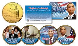 BARACK OBAMA 24KT Gold Plated HAWAII State Quarter 4-Coin Set  SPECIAL L... - $9.85