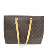 Louis Vuitton Brown Monogram Genuine Leather Luco Tote Bag Handbag 63755-B - $722.01