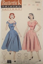 Sewing Pattern Butterick #6625 Size 16 Bust 34 New Look Party Dress - $19.97