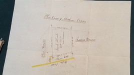 1829 antique ABRAHAM LANDIS tyrone township perry co pa PLATT MAP hand d... - $89.95
