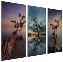 """Pingo World 1218PY0TORG """"Moises Levy Trees At the Lake Collage"""" Gallery ... - $128.65"""