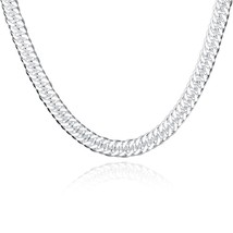 "Silver Cuban Link Chain Necklace 1mm-15mm Men's Women Sz 16""-36"" - $12.73"