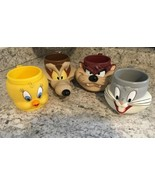 WARNER BROTHERS Vintage Looney Tunes 3D Mugs - Set of 4 - 1992,1993 - €61,50 EUR
