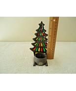 "Vintage Cast Iron Christmas Tree Shaped Tea Light Candle Holder "" GREAT ... - $17.99"