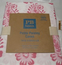 Two Pottery Barn Teen Organic Cotton Petite Paisley Standard Pillow Cases Pink - $23.75