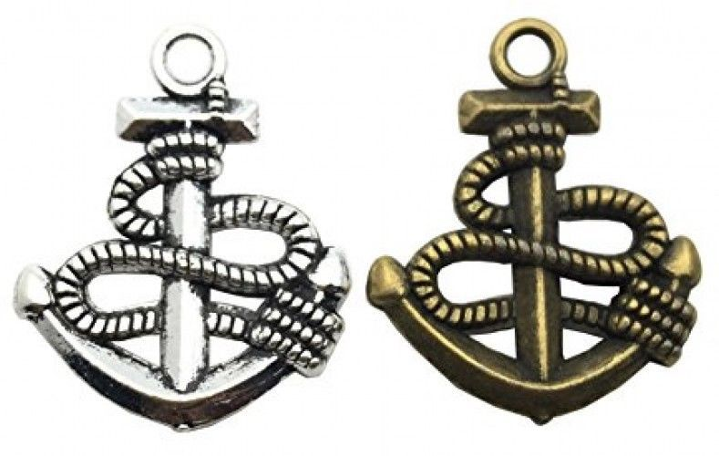 Anchor Charm-100g (about 45-50pcs) Craft Supplies Ship Wheel Anchor Charms For