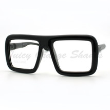 Thick Square Glasses Clear Lens Eyeglasses Frame Super Oversized Fashion - $8.05
