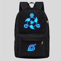 Naruto Luminous Theme Backpack Schoolbag Daypack Black Sharingan Starry Sky - $25.99