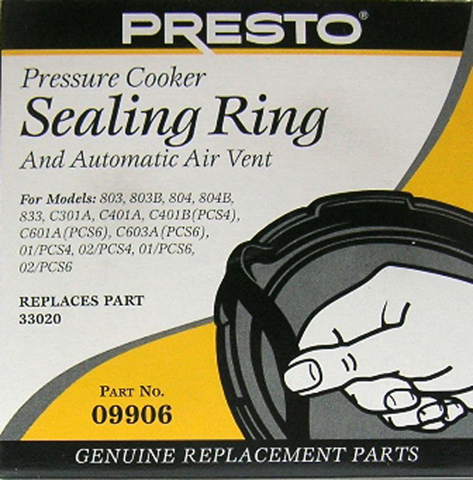 Presto Pressure Cooker Sealing Ring and Automatic Air Vent 09906 - $26.01