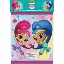 Shimmer and Shine Loot Favor Bags 8 Ct Birthday Party Unique - $4.05
