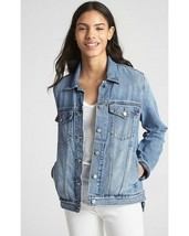 GAP 1969 Icon Reagan Light Stone Washed Button Down Heavy Denim Jacket Coat M - $9.50