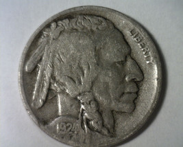 1924-D BUFFALO NICKEL FINE / VERY FINE F/VF NICE ORIGINAL COIN FROM BOBS... - $54.00