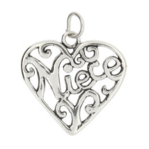 Sterling Silver Niece Charm Or Pendant - $10.39