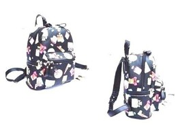 Women Casual Floral Print Backpack Synthetic Leather Bookbag Prints Gift - $13.00