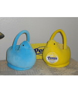 2 PEEPS EASTER Plush Baskets 2005 Blue Yellow - $19.99