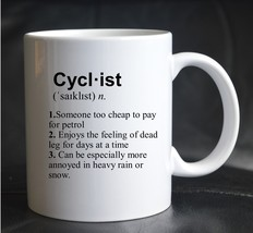 PRINTED MUG DEFINITION CYCLIST Bicycle Sport Workout Joke Present Gift Cup - $13.03