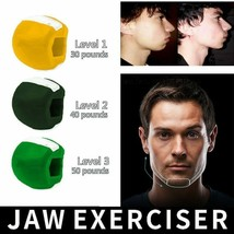 Fitness Face Chin Massager Men & Women Mouth Jawline Muscle Exerciser Sl... - $20.79+