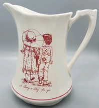 """Vtg 1974 Alfred Meakin Ceramic Pitcher """"A Daisy a Day for You""""  England ... - $14.99"""