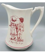 "Vtg 1974 Alfred Meakin Ceramic Pitcher ""A Daisy a Day for You""  England ... - $14.99"