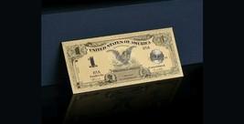 """1899 """"GOLD""""$1 Silver Certificate Black Eagle Rep.*Banknote W/COA~STU - $11.19"""