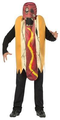 Hot Dog Zombie Adult Costume Food Wiener in Bun Halloween Party Unique GC6532
